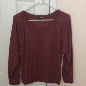 Black house maroon burgundy blouse long sleeve